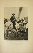 BOER WAR ERA PRINT ~ GENERAL SCHALK W. BURGER VICE-PRESIDENT S. AFRICAN REPUBLIC