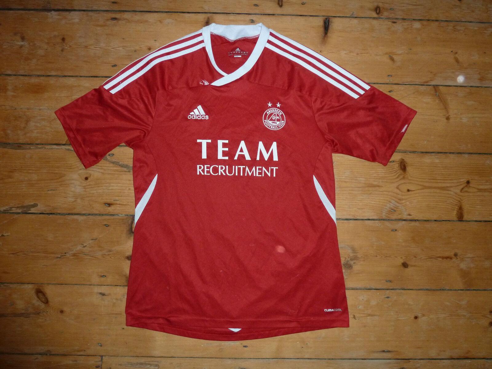 Größe  ( M) Aberdeen FC FC FC Fußball Trikot 2011 Schottische   Dons Climacool 32bd31