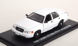 1:43 Greenlight Ford Crown Victoria Police Intercepteur White