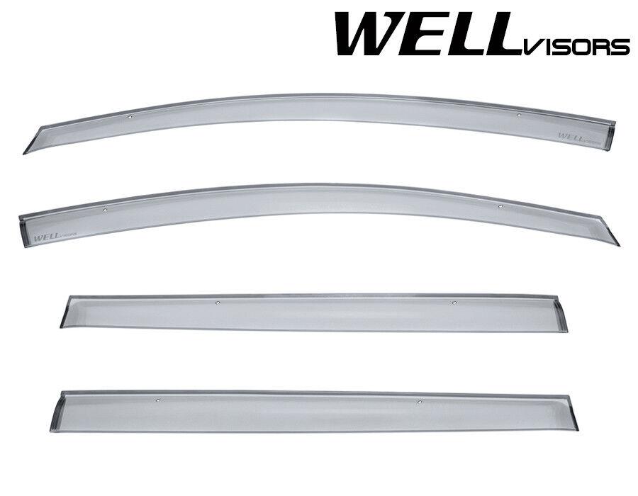 Fit 11-17 Nissan Leaf JDM WellVisors Smoke Clip-On Window Visors Rain Guard