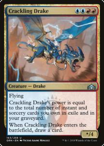 4 CRACKLING DRAKE ~mtg NM-M Guilds of Ravnica Unc x4