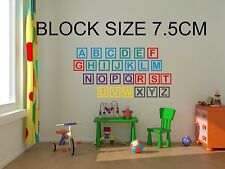 Childrens Bedroom Nursery Wall Art Stickers Alphabet Blocks large