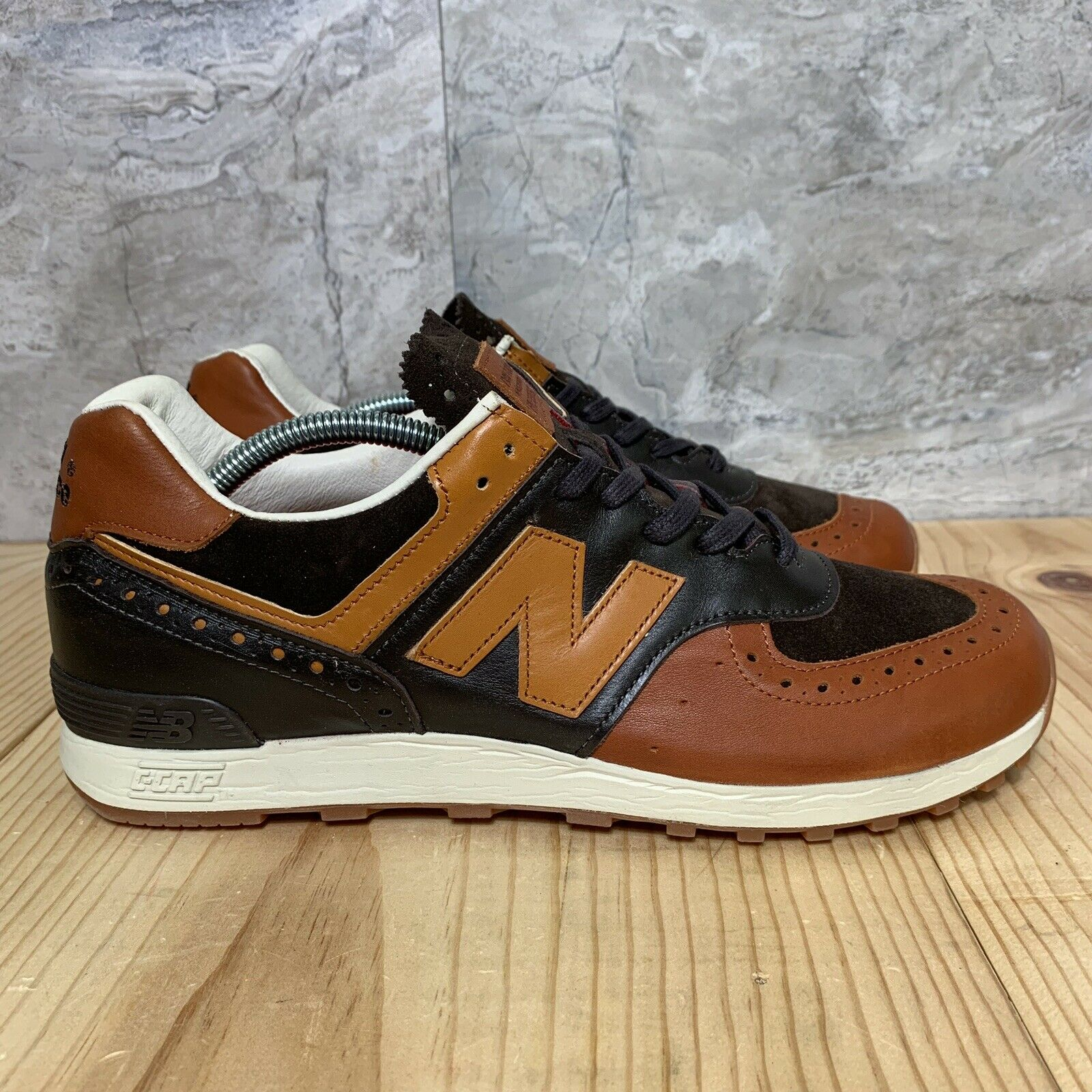 New Balance X Grenson M576GSN Size 10 Brown Leather Made In England Rare Phase 2
