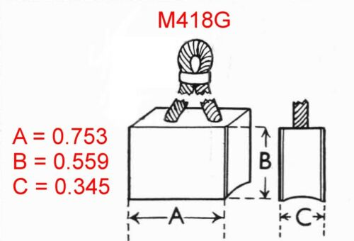 SUNBEAM Talbot 90 1950-54 BRUSHES for Starter M418G Lucas 25521B//D