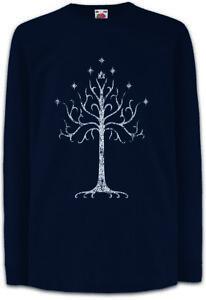 White-Tree-Kinder-Langarm-T-Shirt-Herr-der-Gondor-Ringe-Minas-Tirith-Weisser-Baum