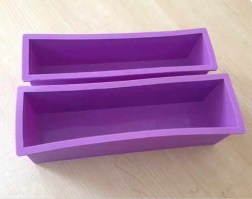 Rectangle Silicone Soap Mold Wooden Box DIY Tools Toast Loaf Baking Cake Moulds