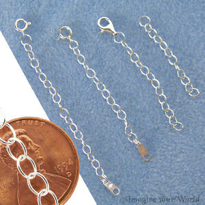 STERLING-SILVER-925-Safety-or-EXTENDER-CHAIN-Custom-Handmade-Your-Length-X3L