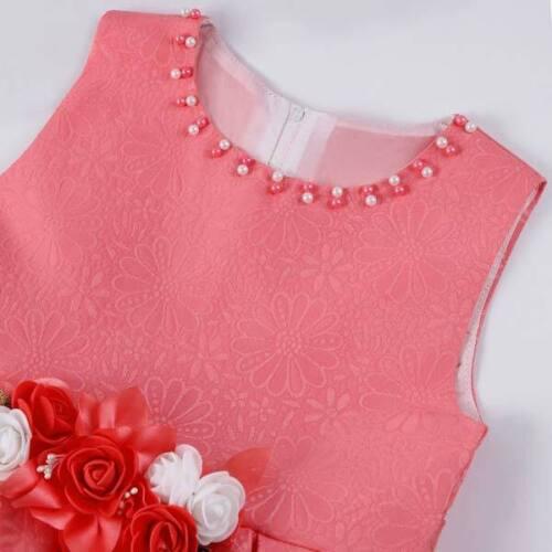Princess dress baby formal bridesmaid kid tutu dresses girl party wedding flower