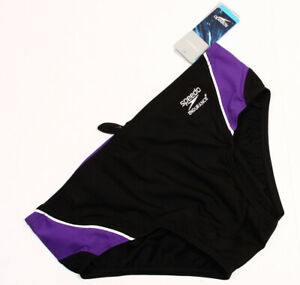 9665c65352 Image is loading Speedo-Launch-Splice-Brief-Endurance-Purple-Black-Men-