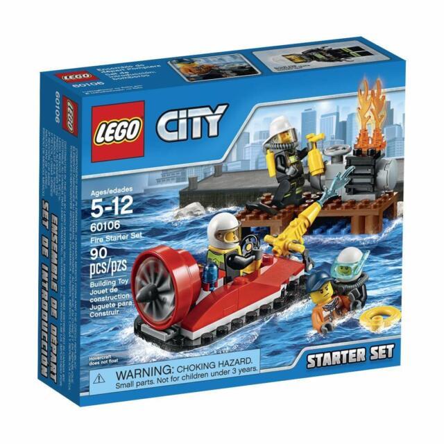 Lego City Town 60106 Fire Starter Set hovercraft pier Fireman Gift Present NISB