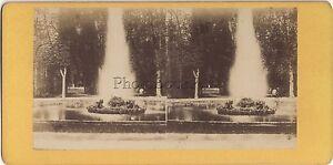 Parc Da Versailles Francia Foto Stereo Stereoview Vintage Albumina Ca 1870