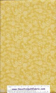Chill-Out-Yellow-Snowflake-Snow-Flake-Winter-Tonal-Novelty-Quilt-Fabric-BTY