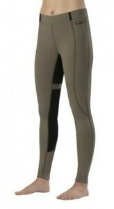 KERRITS-Flex-Tight-II-Fullseat-Riding-Breeches-WOMENS-M-CAPER-Gripstretch-Suede