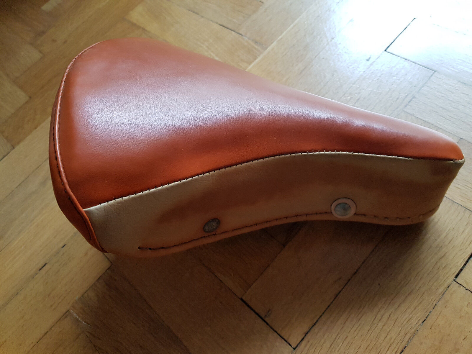 Vintage Carnielli Leather, Two  color, Foam Saddle. Made in .  online sales