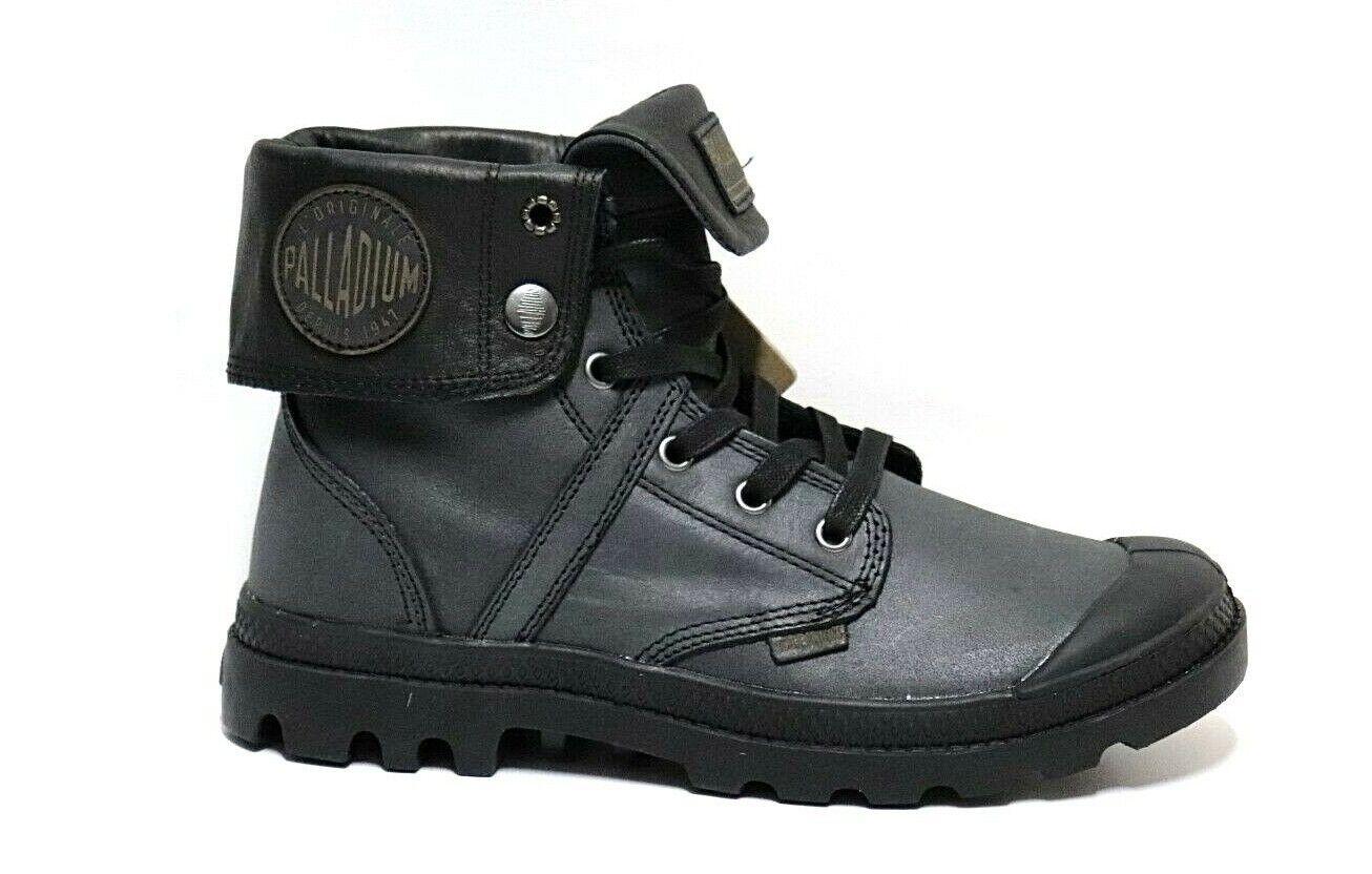 SCONTO 30% PALLADIUM UNISEX PALLABROUSE zapatos RISVOLTO ANFIBIO PELLE STIVALETTO