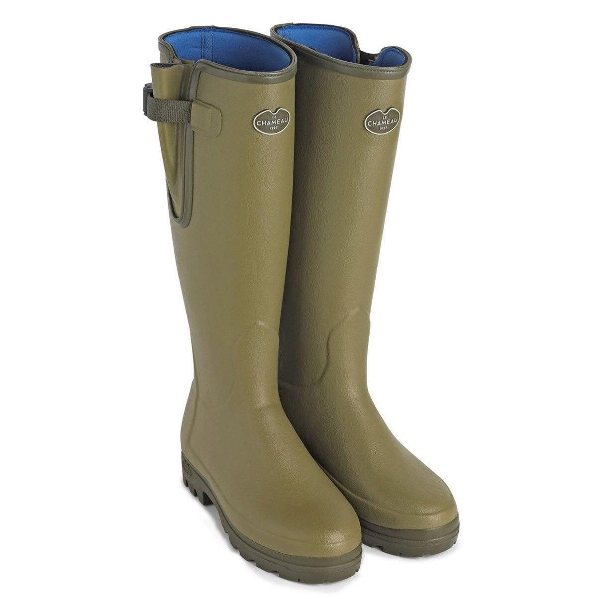 Para Hombre Le Chameau Vierzonord Neopreno Forrado botas, Gratis Reino Unido P&p Aleación de arranque Jack.