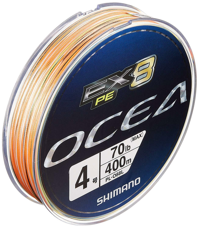 Shimano OCEA EX 8 PE Braid  4.0 70lb 400m MultiColoreee PLO88L Line Japan New