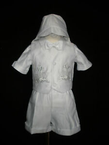 New Baby Boy Toddler Christening Baptism Outfit Size 0 1 2 ...