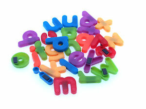 Image is loading Small-Lower-Case-Magnetic-Letters-Fridge-Magnets-Full-