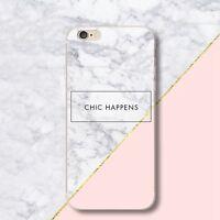 Pink White Marble Pattern TPU Pattern Phone Case for iPhone Samusung Huawei
