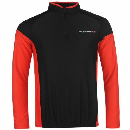 Muddyfox Mens Cycling Long Sleeve Jersey Cycle Top Quarter Zip OTH Elasticated