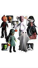 Living Dead Dolls Series 16 Complete Set Pumpkin, Squeak, Isabel, Mishka,Eleanor