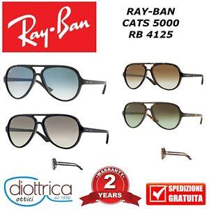 RAY-BAN-RB-4125-CATS-5000-OCCHIALE-DA-SOLE-UOMO-DONNA-SFUMATO-OCCHIALI-RAYBAN