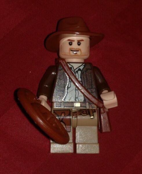 LEGO Indiana Jones Minifigure whip satchel 7623 7627 7198 7196 7624 MINIFIG RARE
