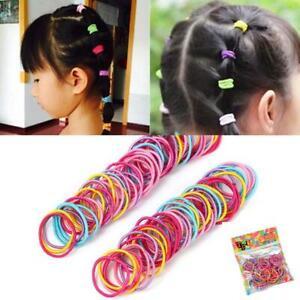 100Pcs Lot Kids Girl Elastic Rope Hair Ties Ponytail Holder Head Band Hairband