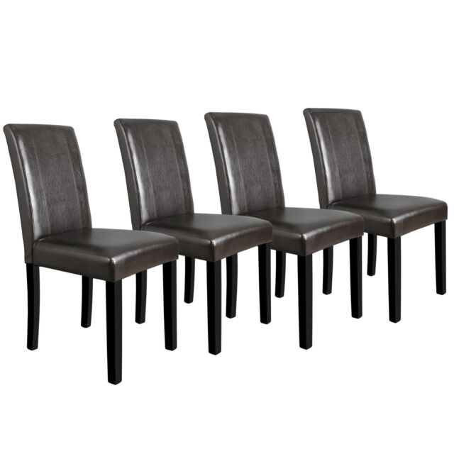 Prime Dining Room Chairs Set Of 4 Formal Parson Chairs W Leather Accent Solid Wood Leg Gmtry Best Dining Table And Chair Ideas Images Gmtryco