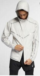 Mens-Nike-Tech-Pack-Windrunner-Running-Full-Zip-White-Jacket-Size-XXL-AR9827-095