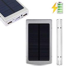 Sliver 80000mAh Dual USB Portable Solar Battery Charger Power Bank For Phone USA
