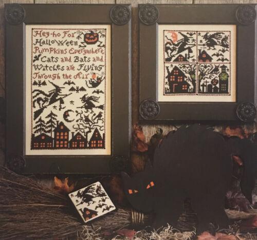 Bats /& Witches Halloween Prairie Schooler Pattern Original 174 Cats