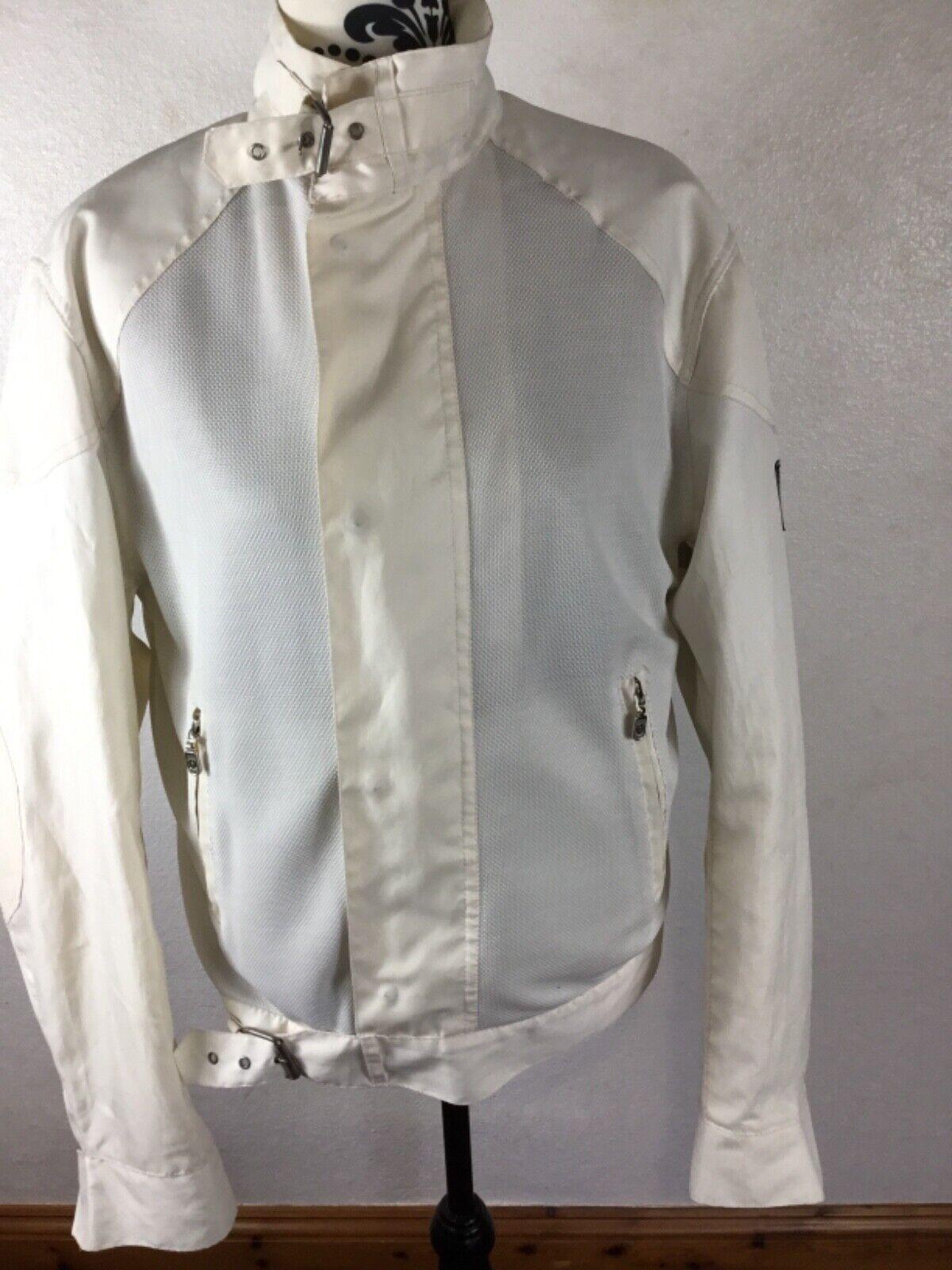 Belstaff Quality Lightweight Mesh Nylon cream Short Jacket Large removable inner