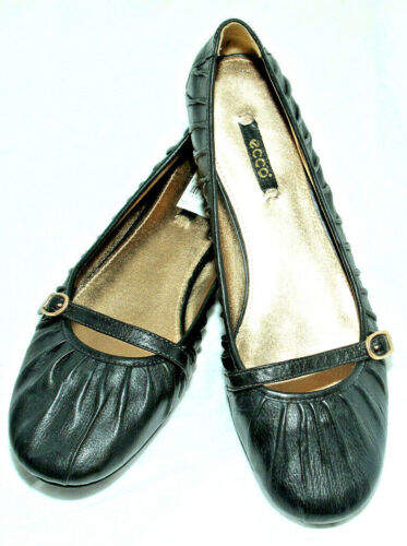 Skimmer Plissee Maryjane Black Damenschuhe Ballerinas 11us Leder Ecco Goya TZ1wFqpO
