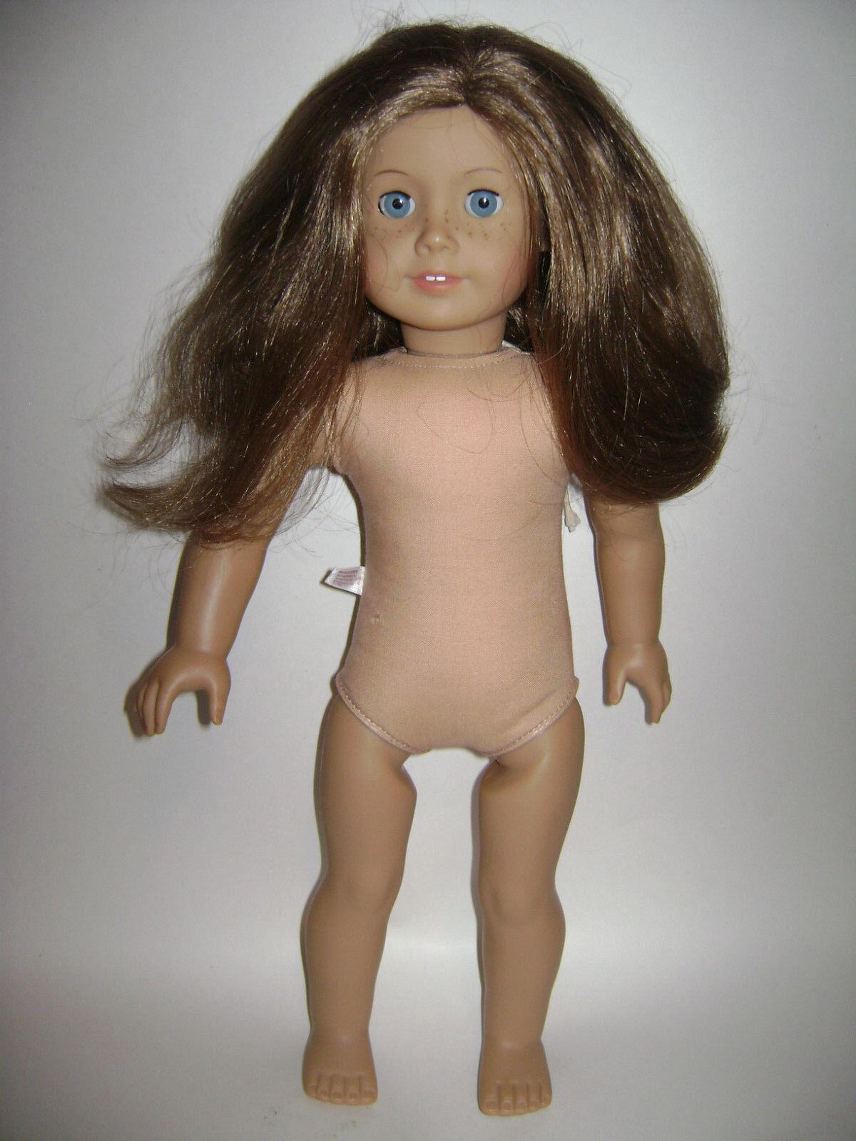 AMERICAN GIRL DOLL 18  2008 JUST LIKE ME braun HAIR Blau EYES FRECKLES RETIrot