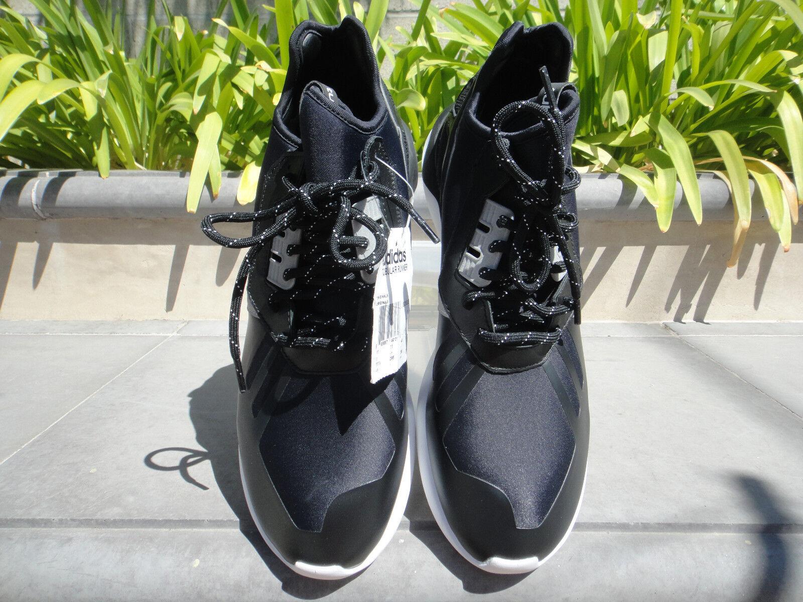 SALE  adidas Tubular Runner BLACK GREY WHITE Leather Textile B25525 Men's US11.5