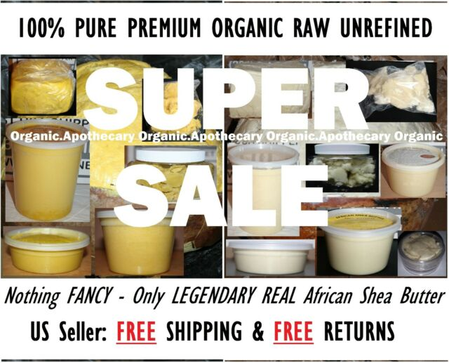PREMIUM Raw Shea Butter 100% Natural Pure Unrefined From Ghana 1 oz to 50 Pounds