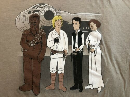King Of The Hill Star Wars Mash-up T-shirt Large