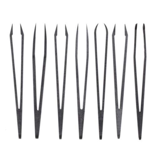 6X Pinzette antistatische Kunststoffpinzette Reparaturwerkzeuge für empfindlRSDE