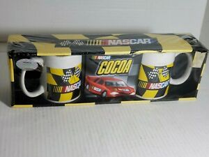 Nascar Car Coffee Cups hot Chocolate Cocoa Package Checkerboard Flag Print 2007
