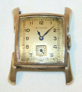 Vintage Helvetia 17 Jewel Mans Wristwatch Watch with 10kt Gold Filled Case