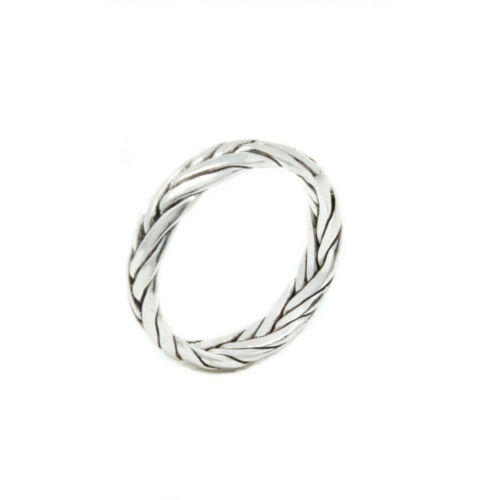 Flechtring Zopfmuster Damenring Echt 925 Sterlingsilber Damen Silber Zopf Ring