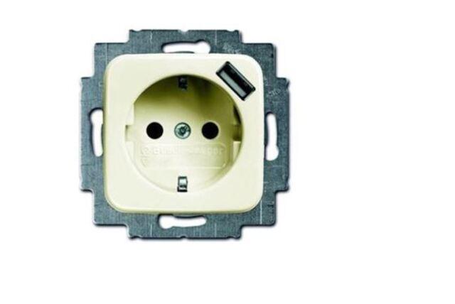 Busch Jäger Duro 2000SI cremeweiss Steckdose USB 20 EUCBUSB-212 (20EUCBUSB-212)
