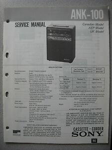 SONY-ANK-100-Cassette-Corder-Service-Manual