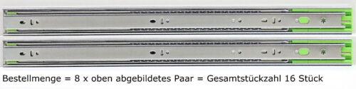 Schubladenschienen Teleskopauszüge Selbsteinzug Dämpfer Vollauszug 45 mm 600 mm