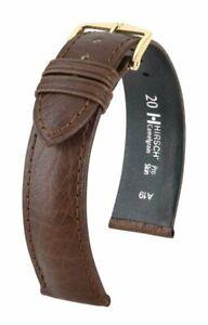 Hirsch Camelgrain 12 mm brown Pro Skin watch strap, size M