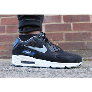 best prices the latest on feet at Details about NIKE AIR MAX 90 ESSENTIAL Mens Size 10 Black/Grey-  Blue-Blue-Graphite 537384-041