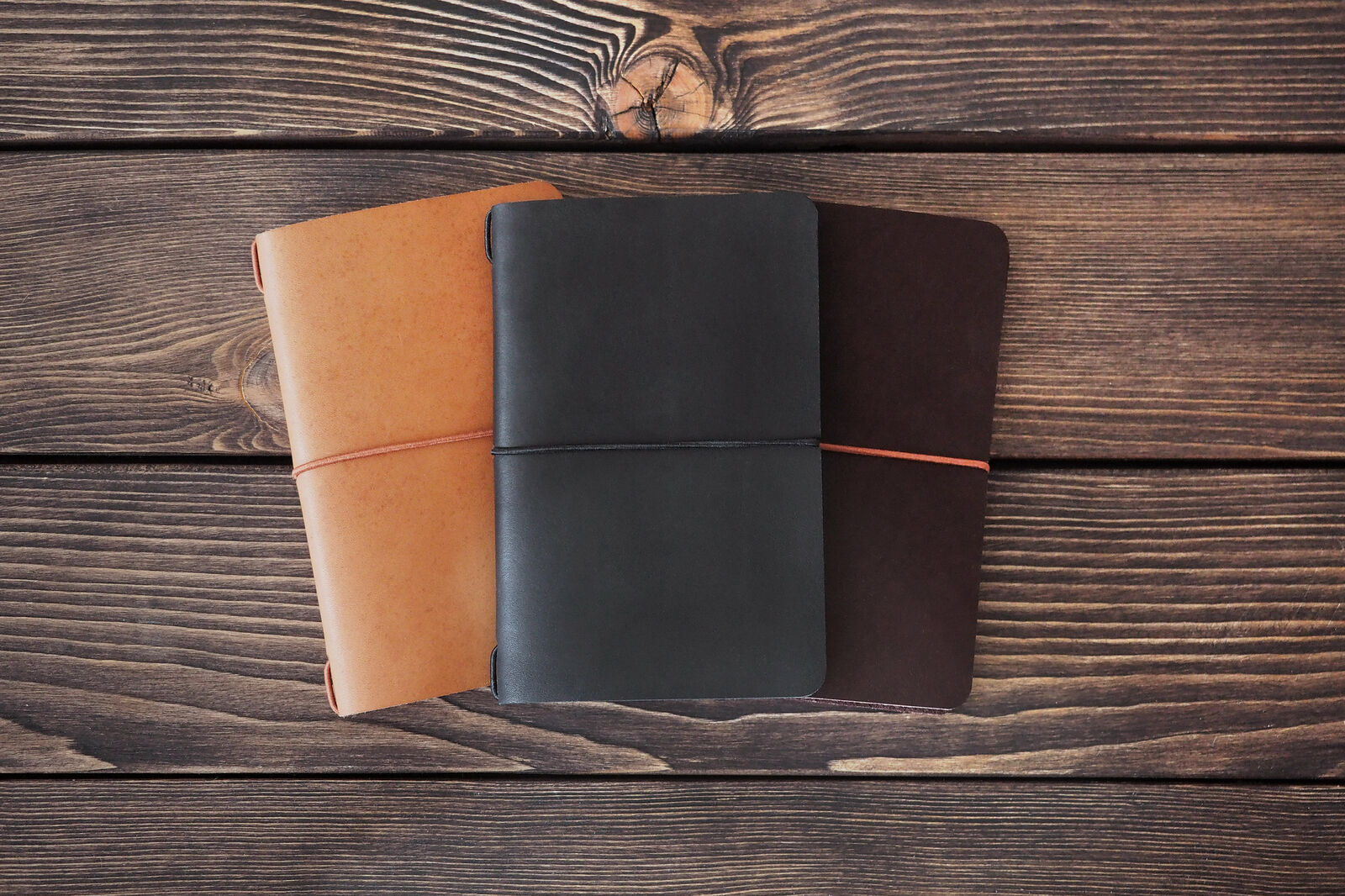 Mini leather journal. Field Notes cover. Band journal. Soft cover notebooks. ...