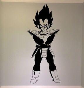 Vegeta Vinyl Wall Decal Dragon Ball Z DBZ Anime Wall Art Manga - Dragon ball z wall decals